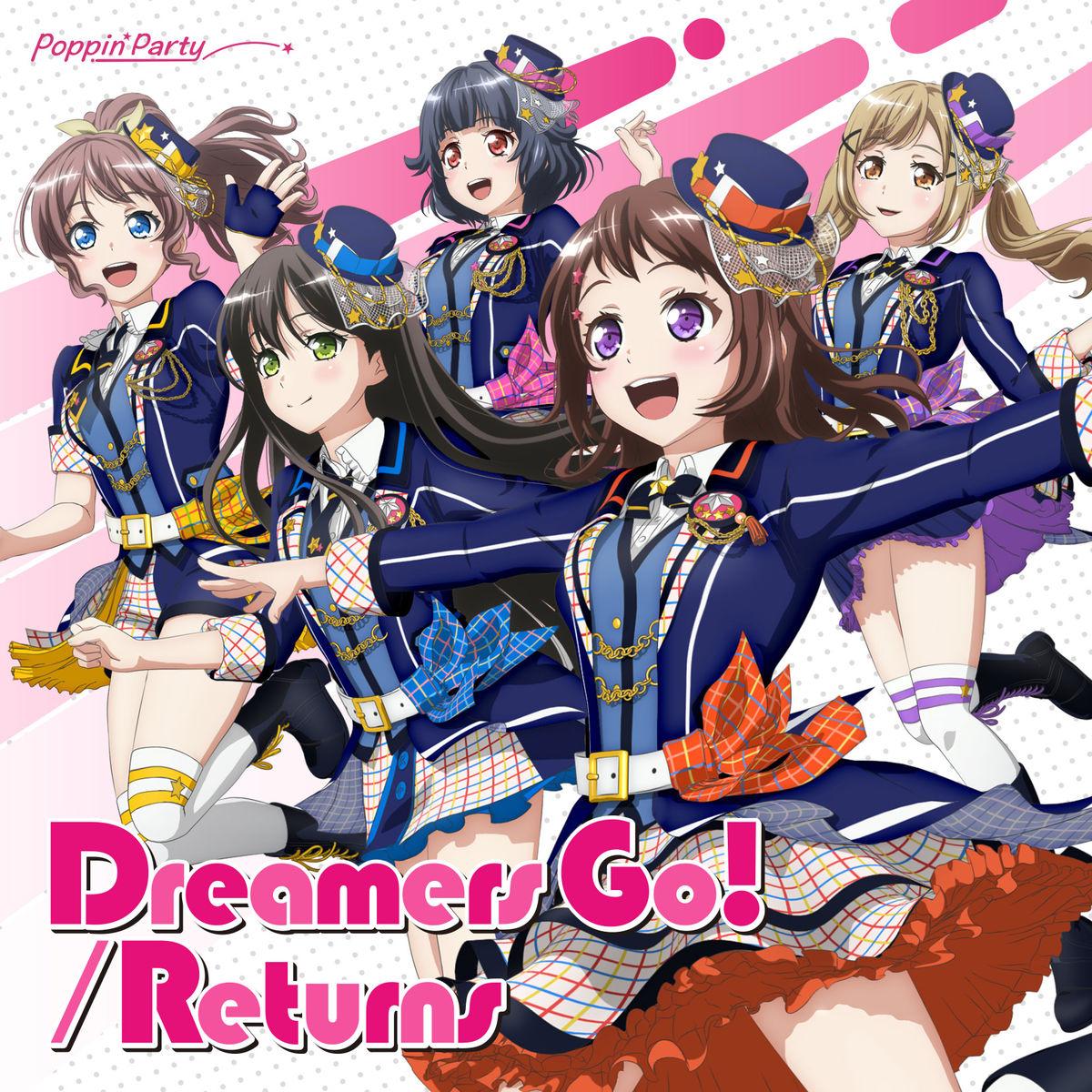 『Poppin'Party - Returns』収録の『Dreamers Go! / Returns』ジャケット