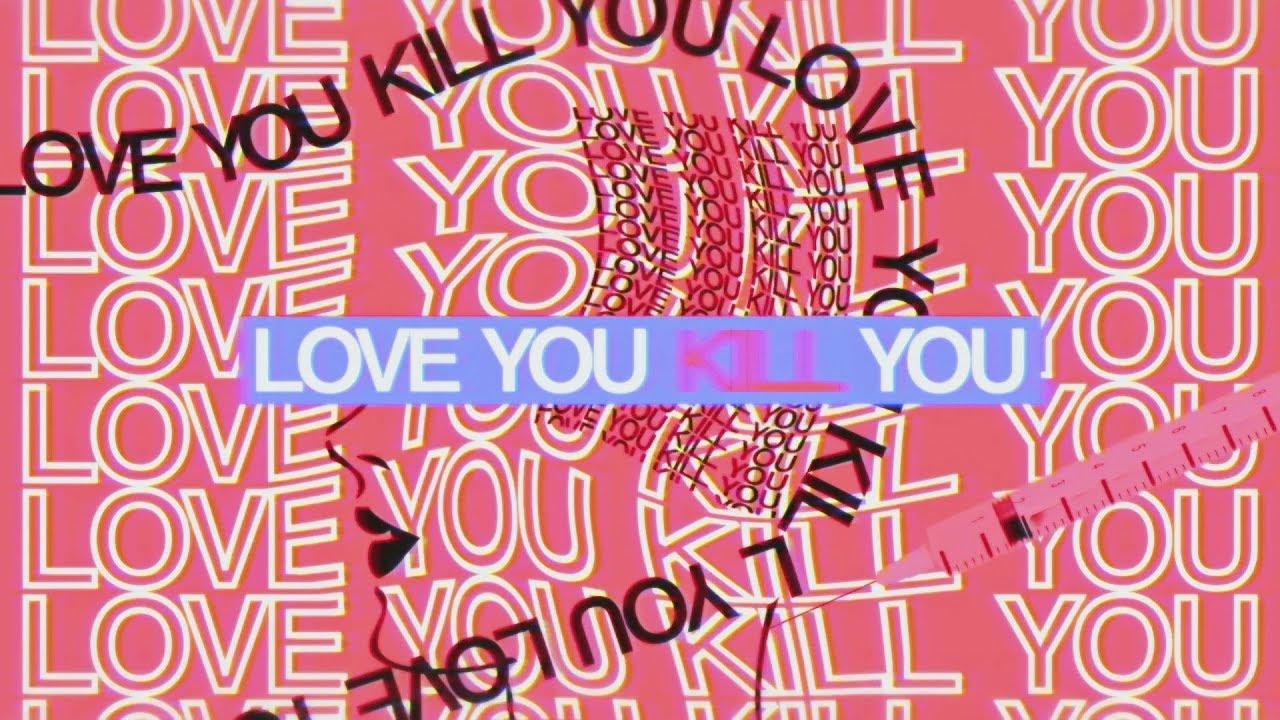『悲撃のヒロイン症候群 - LOVE YOU KILL YOU』収録の『LOVE YOU KILL YOU』ジャケット