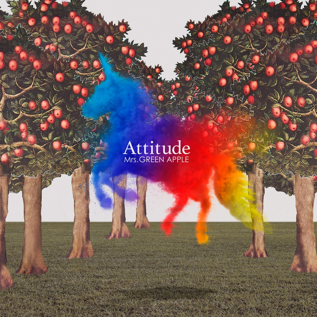 『Mrs. GREEN APPLE - Soup』収録の『Attitude』ジャケット