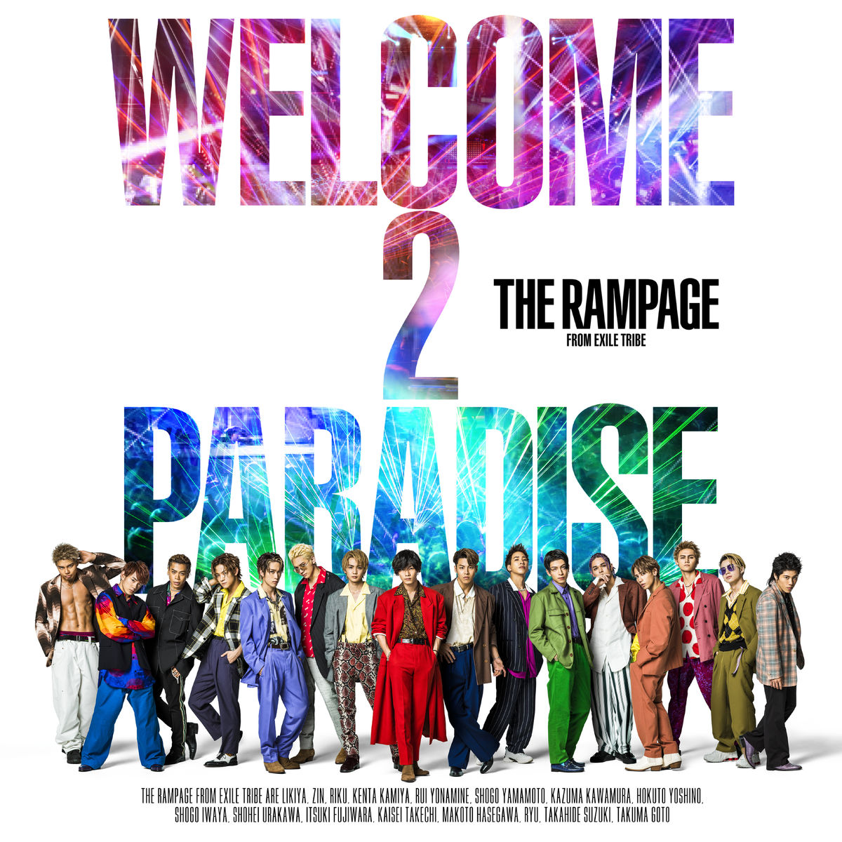 『THE RAMPAGE from EXILE TRIBEOne More Kiss』収録の『WELCOME 2 PARADISE』ジャケット