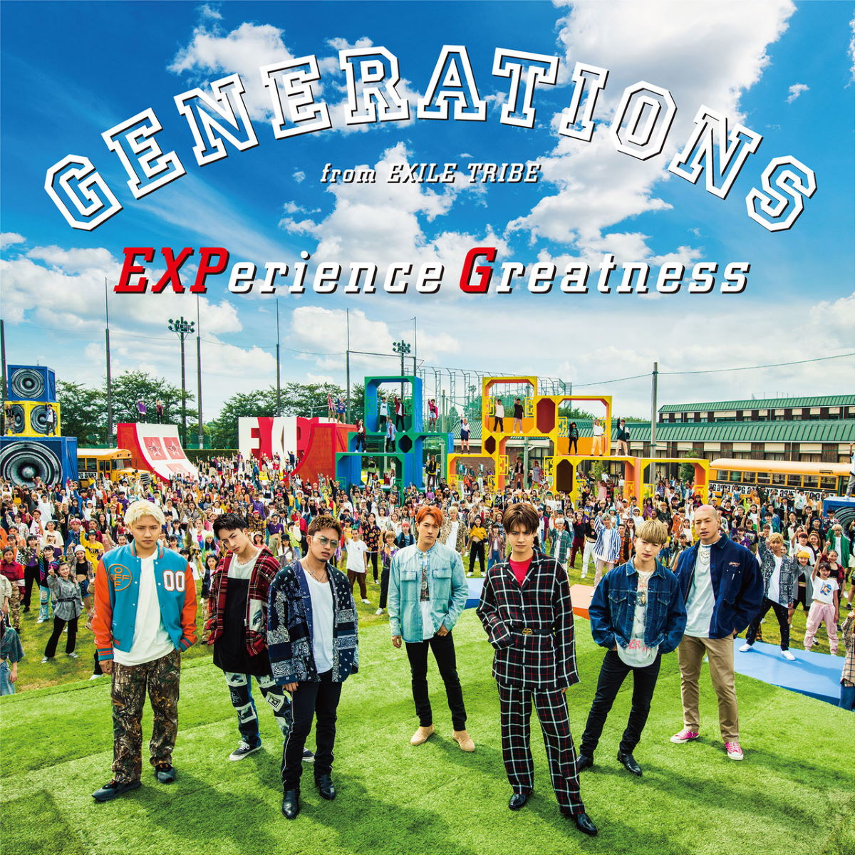 『GENERATIONS from EXILE TRIBE EXPerience Greatness 歌詞』収録の『EXPerience Greatness』ジャケット