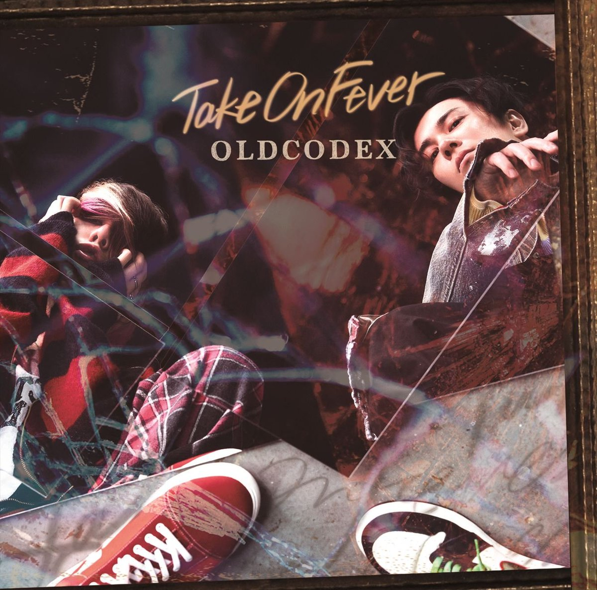 『OLDCODEXpainting of sorrow』収録の『Take On Fever』ジャケット
