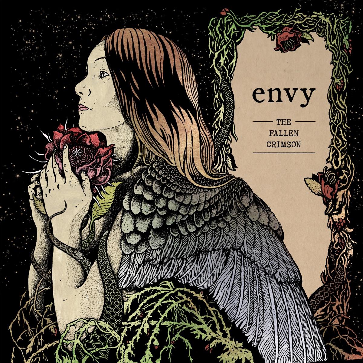 『envy - A Step in the Morning Glow』収録の『The Fallen Crimson』ジャケット