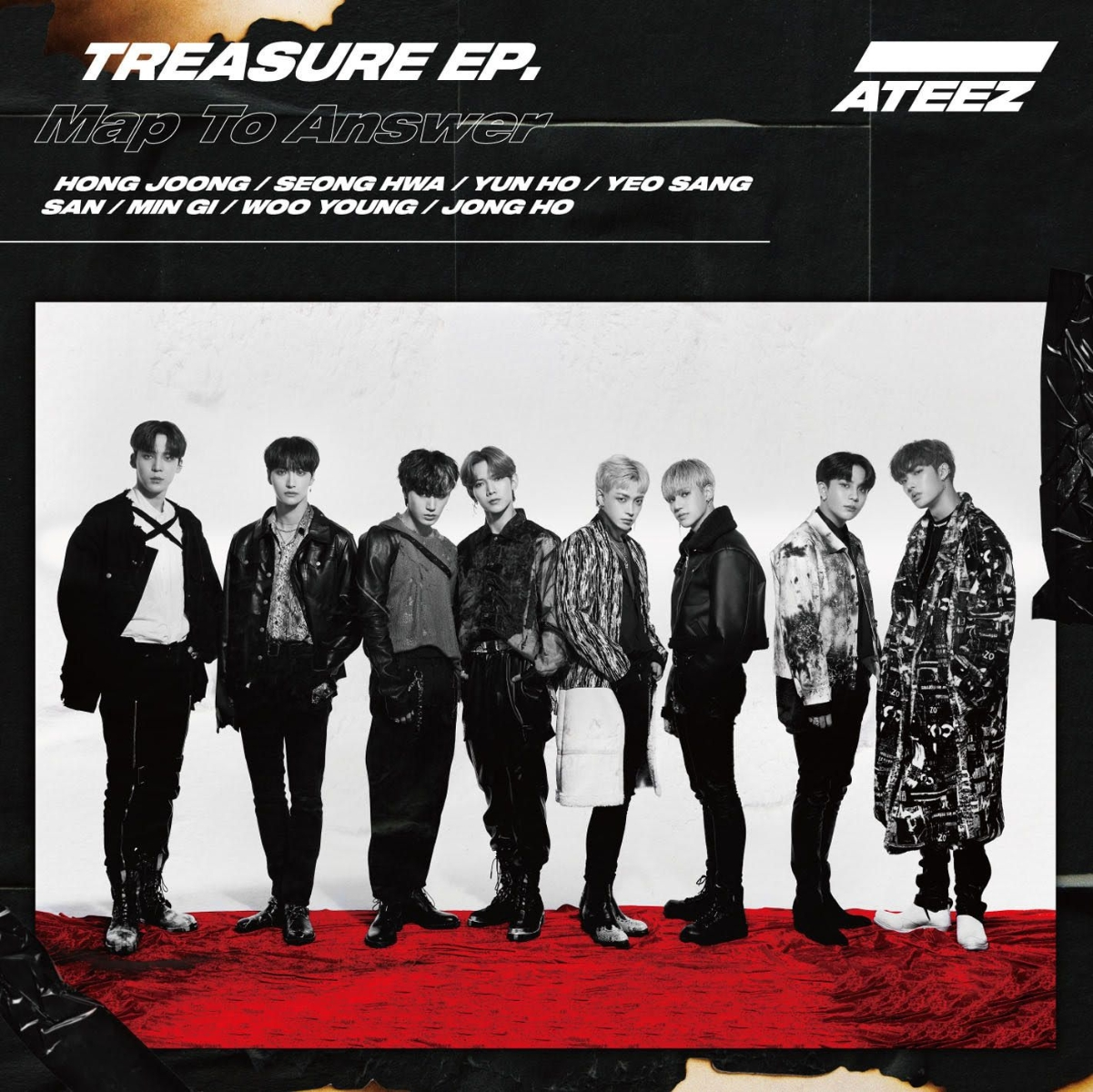 『ATEEZ - Answer (Japanese Ver.)』収録の『TREASURE EP. Map To Answer』ジャケット