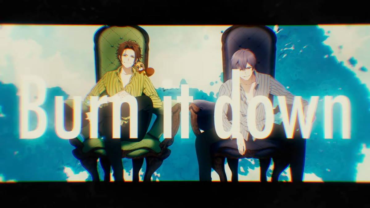 『うらたぬき×志麻 - Burn it down』収録の『Burn it down』ジャケット