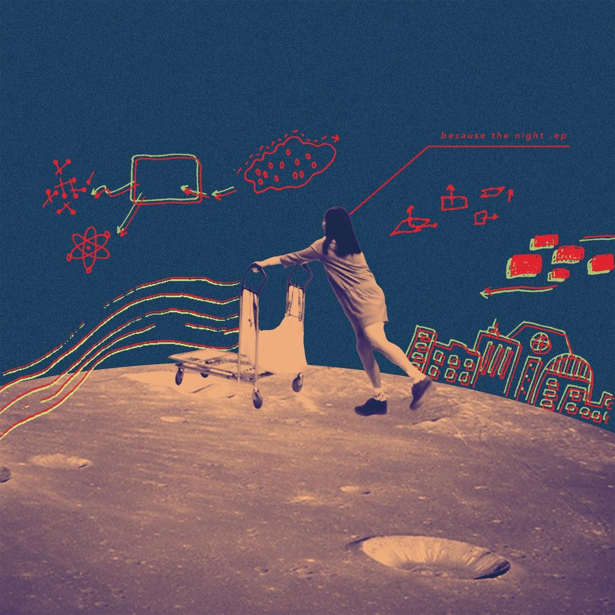 『Laura day romance - 夜のジェットコースター』収録の『because the night.EP』ジャケット