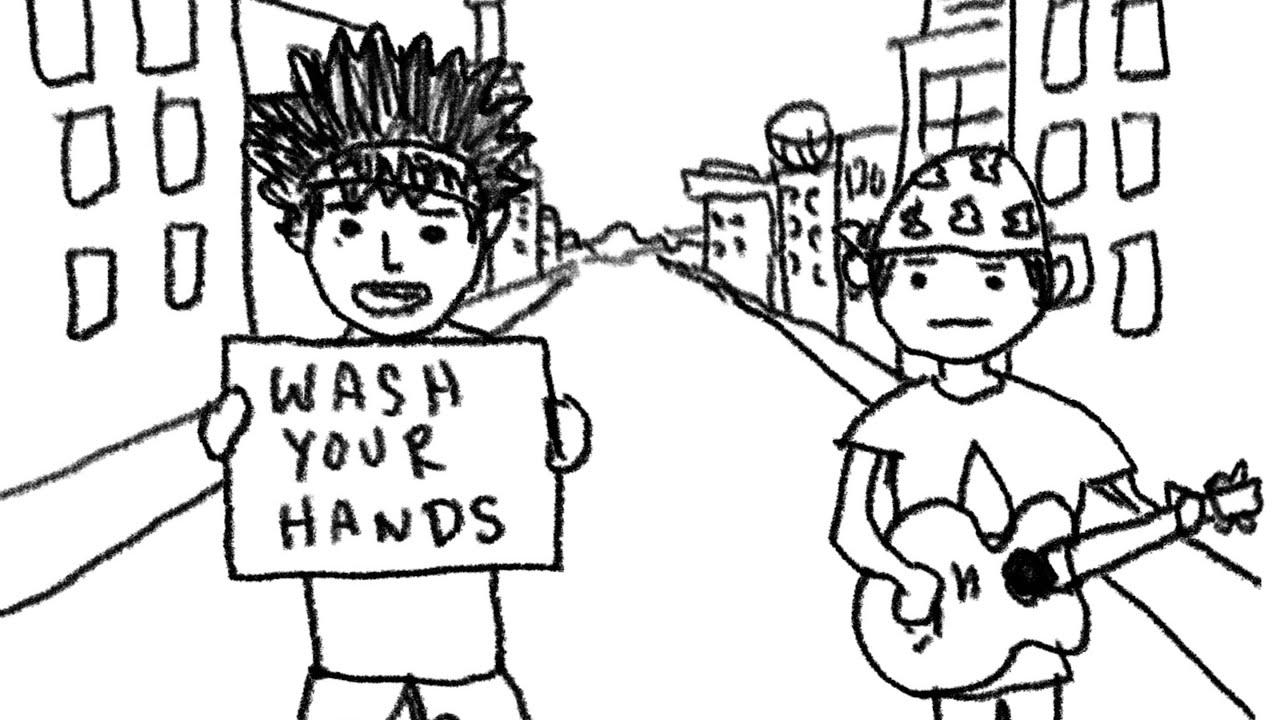 『MIZU 手洗いブギウギ 歌詞』収録の『手洗いブギウギ』ジャケット