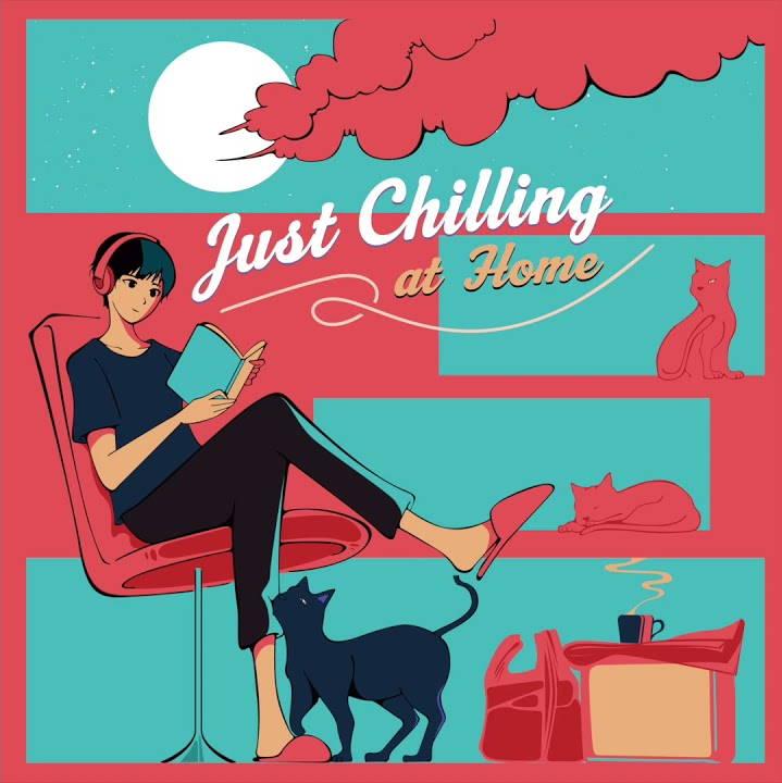 『SUKISHA おうちであそぼう feat. Michael Kaneko 歌詞』収録の『Just Chilling at Home』ジャケット