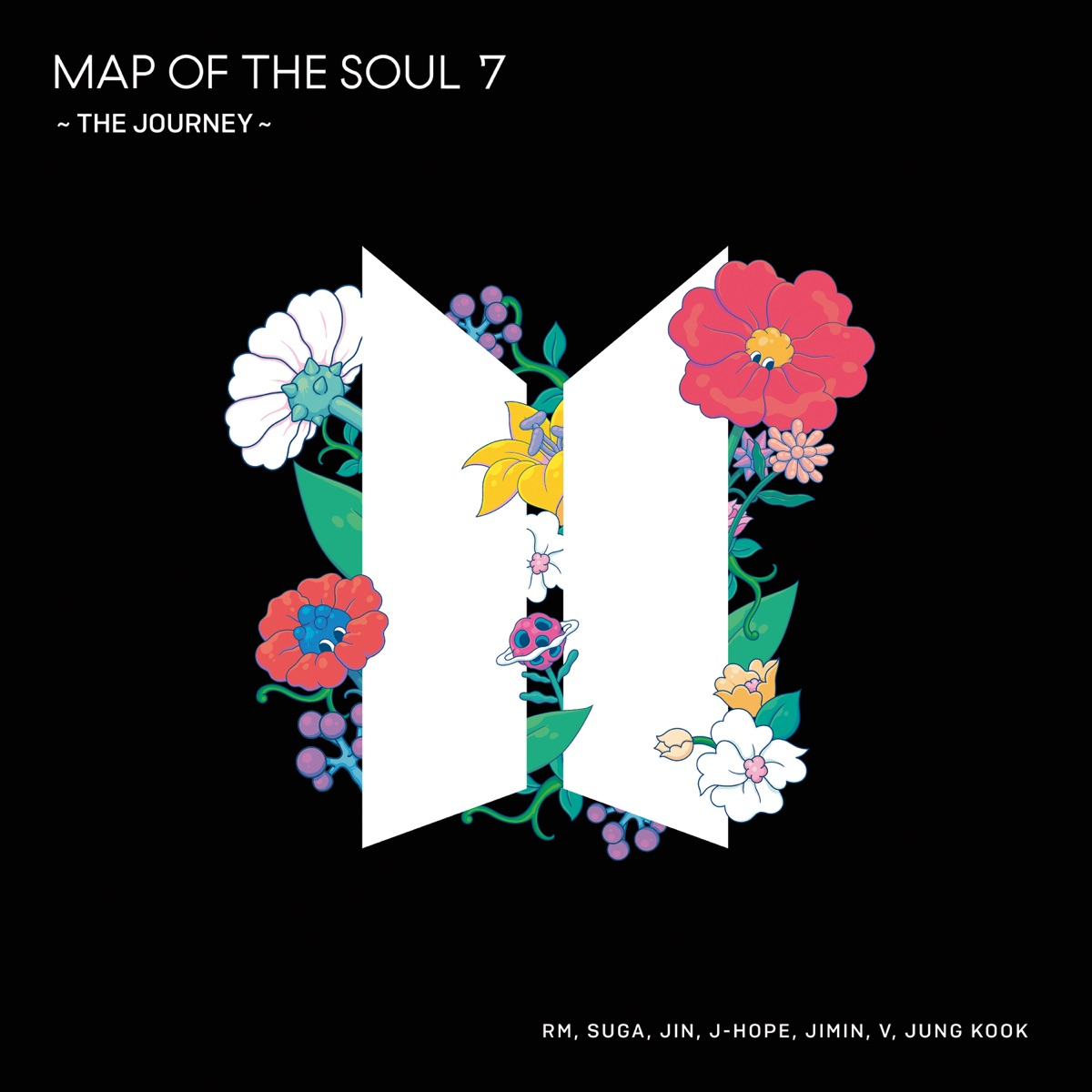 『BTS (防弾少年団) - Black Swan -Japanese ver.- 歌詞』収録の『MAP OF THE SOUL : 7 ~ THE JOURNEY ~』ジャケット