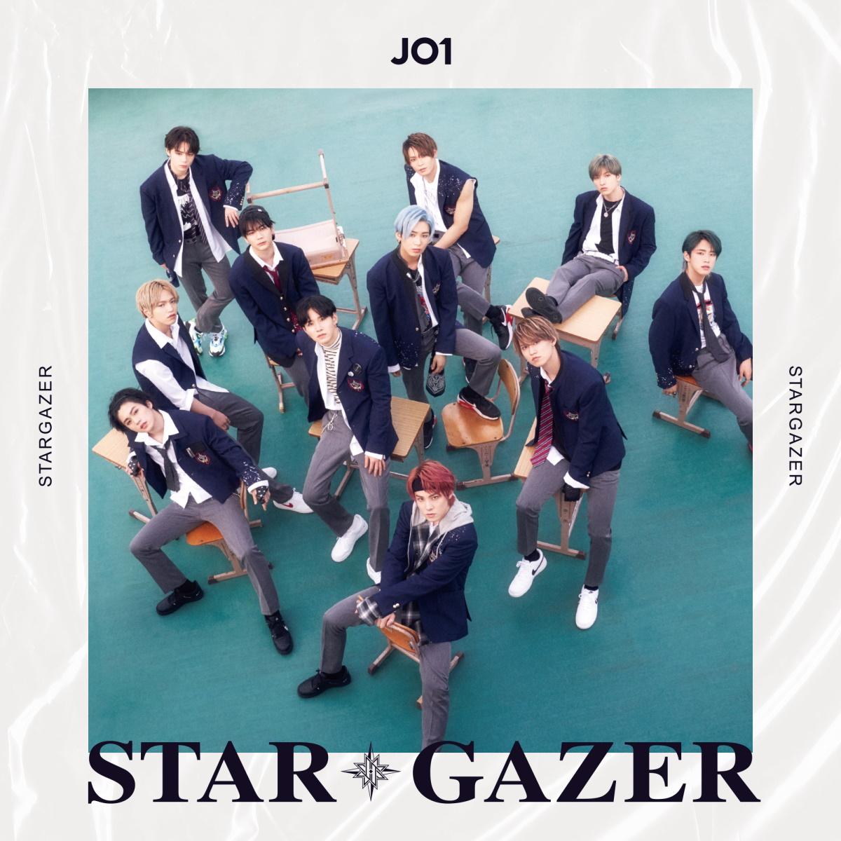 『JO1 - Voice (君の声) 歌詞』収録の『STARGAZER』ジャケット