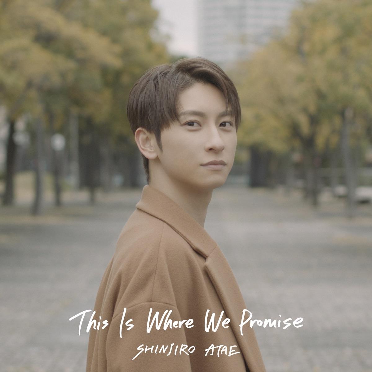 『SHINJIRO ATAE (from AAA) - This Is Where We Promise』収録の『This Is Where We Promise』ジャケット