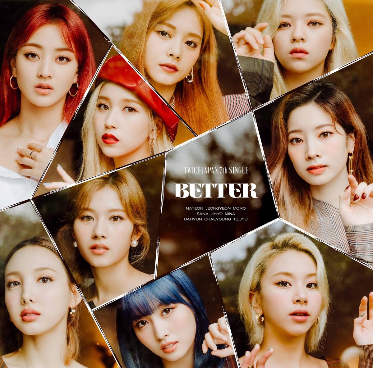 『TWICE BETTER 歌詞』収録の『BETTER』ジャケット