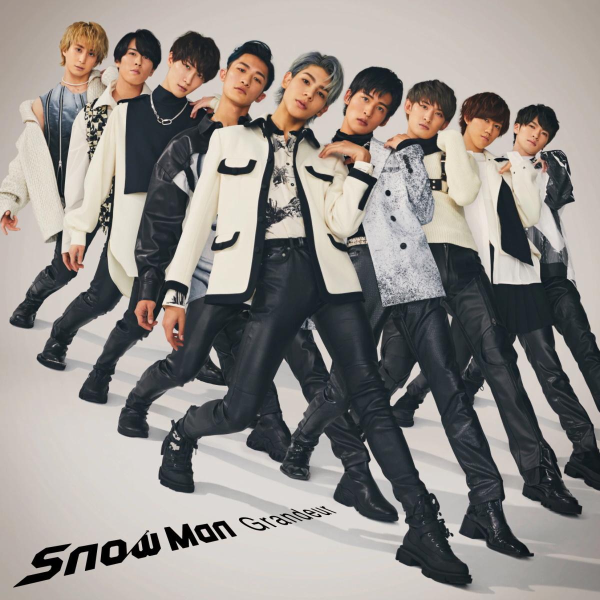 『Snow Man - Grandeur』収録の『Grandeur』ジャケット