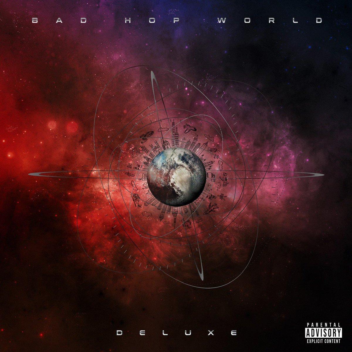 『BAD HOP - No Melody feat. Benjazzy, Leon Fanourakis, Hezron & T-Pablow 歌詞』収録の『BAD HOP WORLD DELUXE』ジャケット