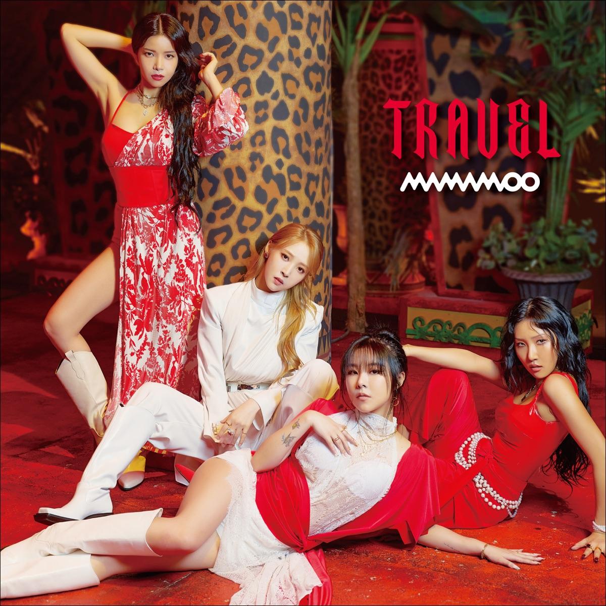 『MAMAMOO - AYA -Japanese ver.- 歌詞』収録の『TRAVEL -Japan Edition-』ジャケット