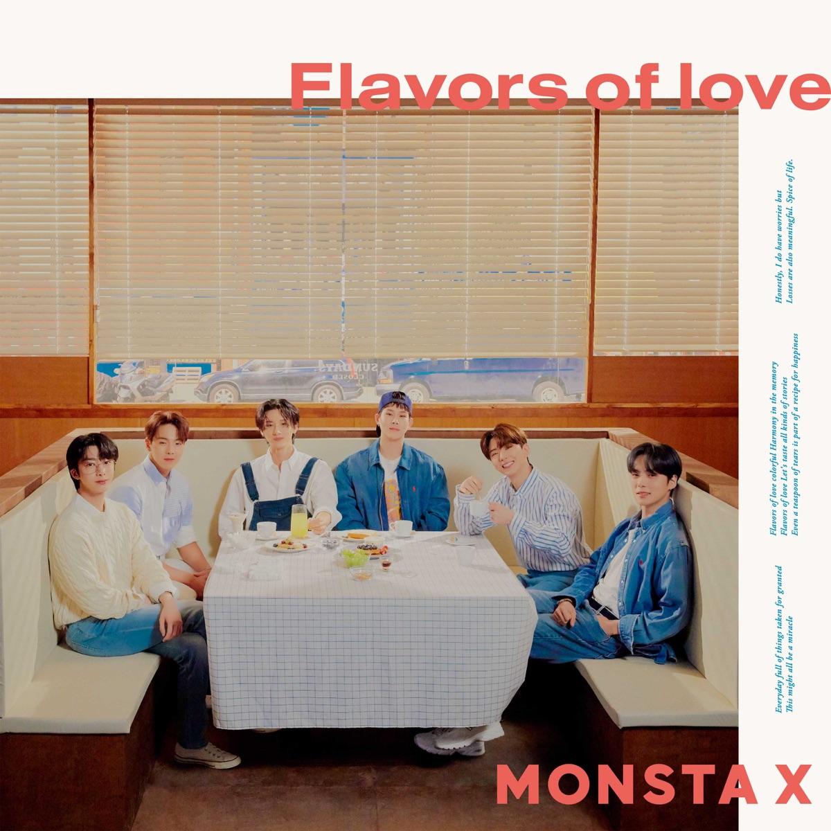『MONSTA X - RE:VERSEDAY』収録の『Flavors of love』ジャケット