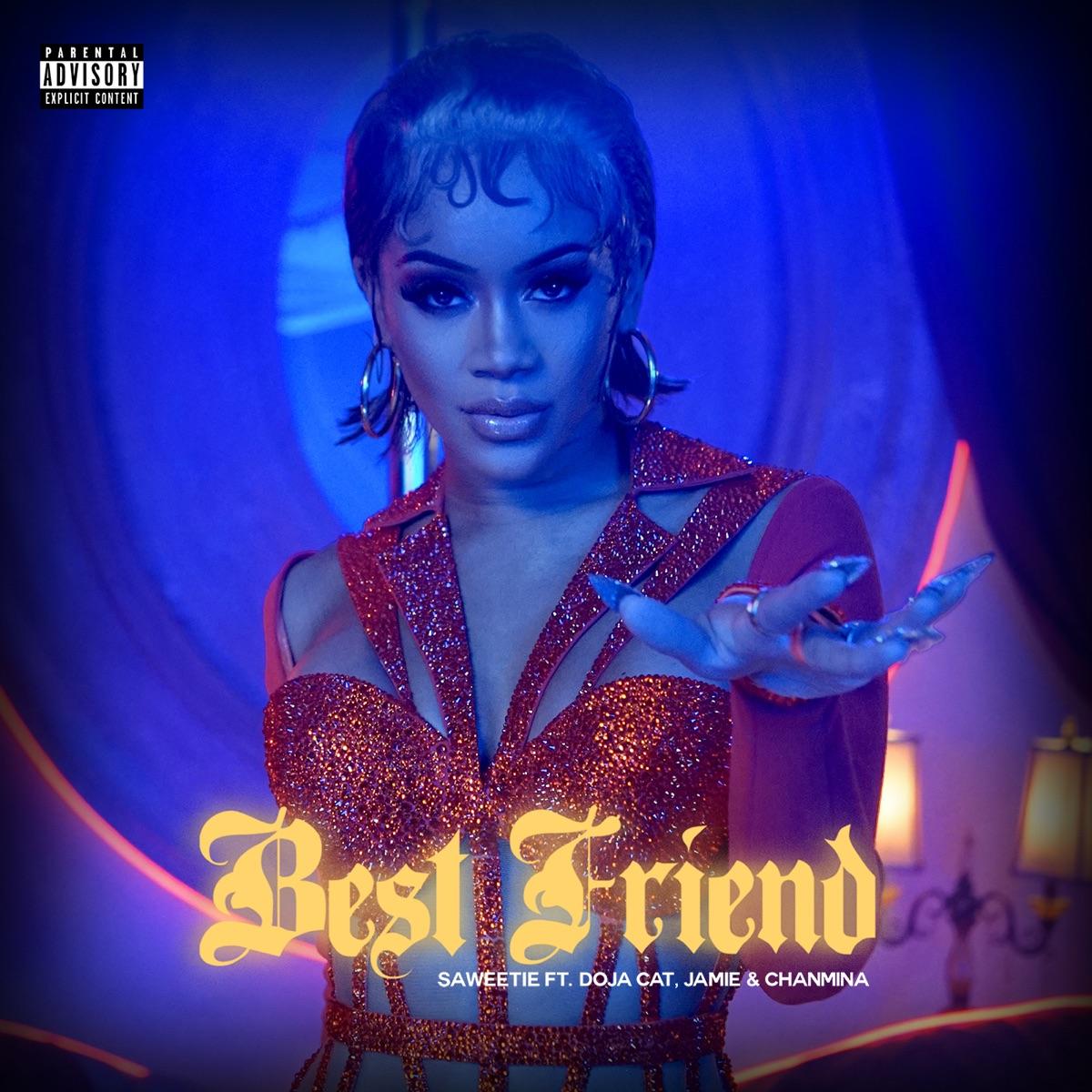『Saweetie - Best Friend (feat. Doja Cat, Jamie & CHANMINA) [Remix]』収録の『Best Friend (feat. Doja Cat, Jamie & CHANMINA) [Remix]』ジャケット