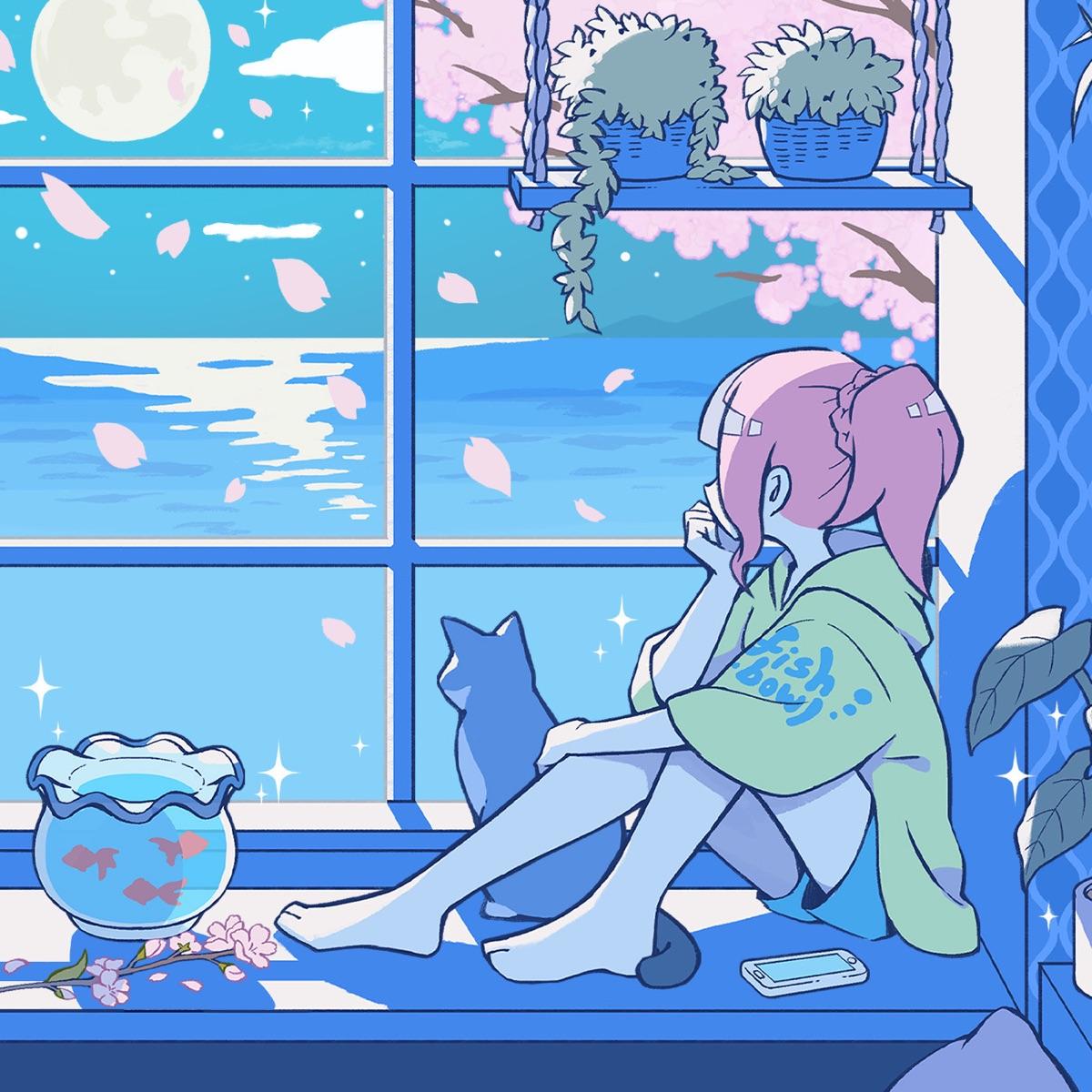 『fishbowl - 夜桜 feat.singtheseason』収録の『夜桜 feat.singtheseason』ジャケット