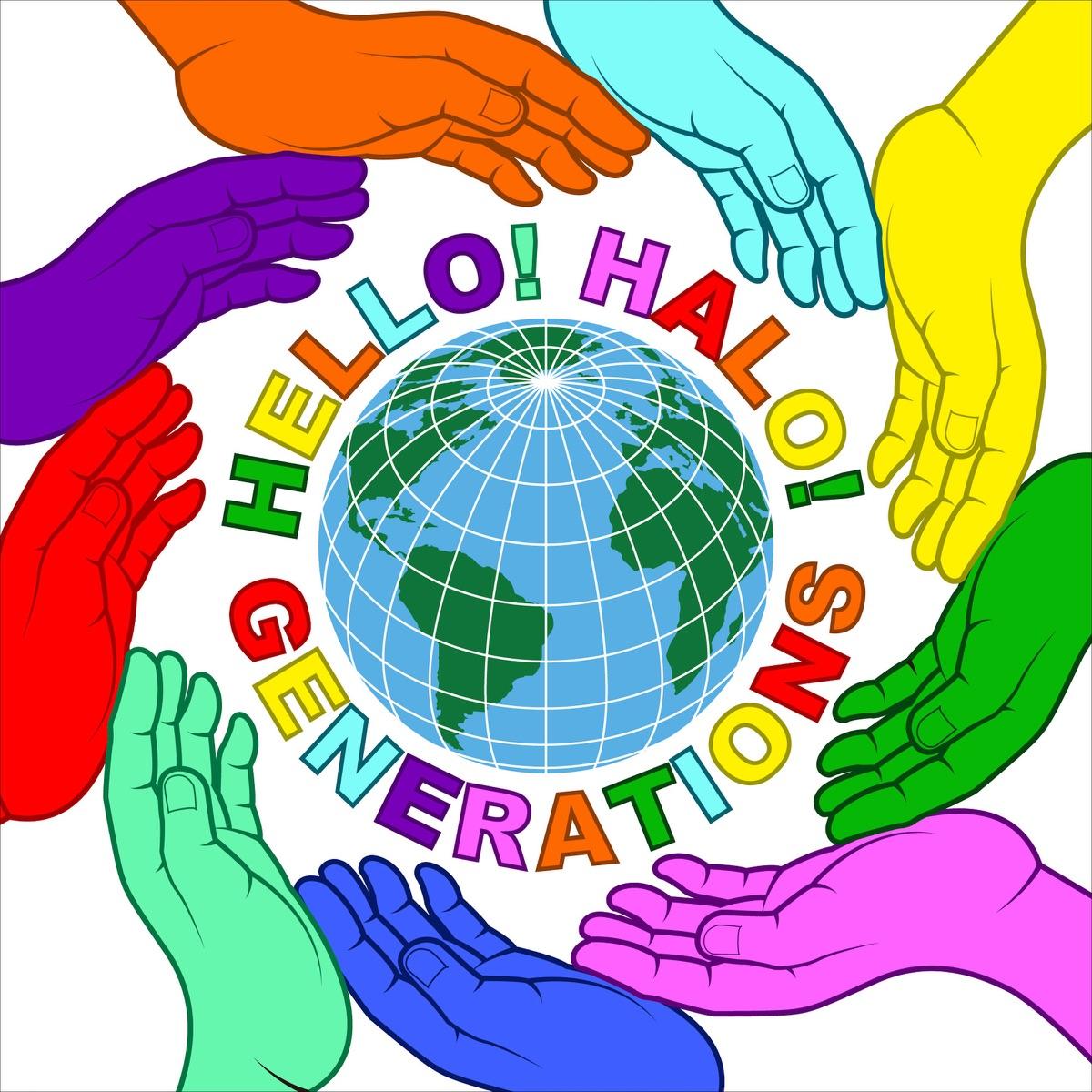 『GENERATIONS from EXILE TRIBE - HELLO! HALO!』収録の『HELLO! HALO!』ジャケット