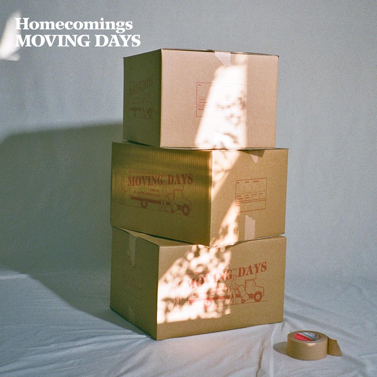 『Homecomings - Here』収録の『MOVING DAYS』ジャケット