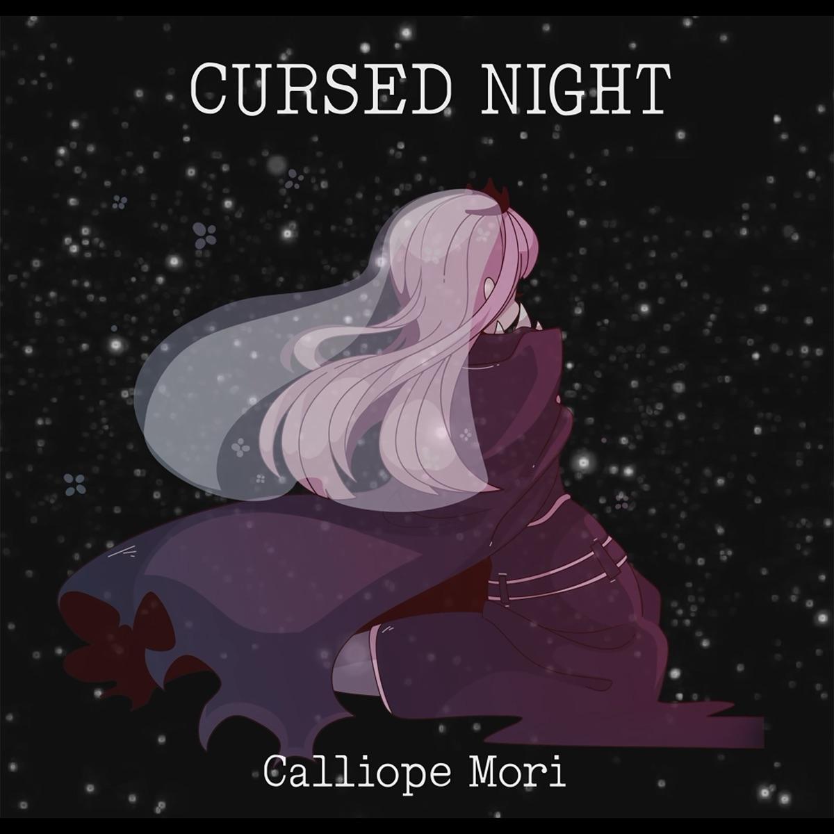 『森カリオペ (Mori Calliope) - Cursed Night』収録の『Cursed Night』ジャケット