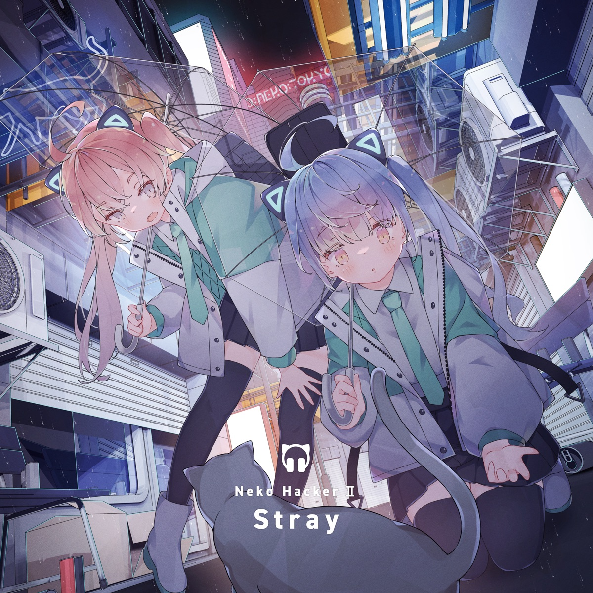 『Neko Hacker - シラズシラズ feat. KMNZ LIZ』収録の『Neko Hacker Ⅱ: Stray』ジャケット