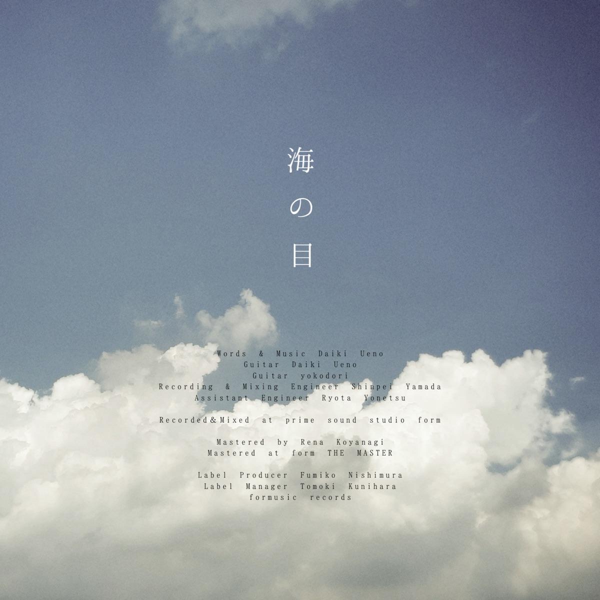『上野大樹 - 海の目』収録の『海の目』ジャケット