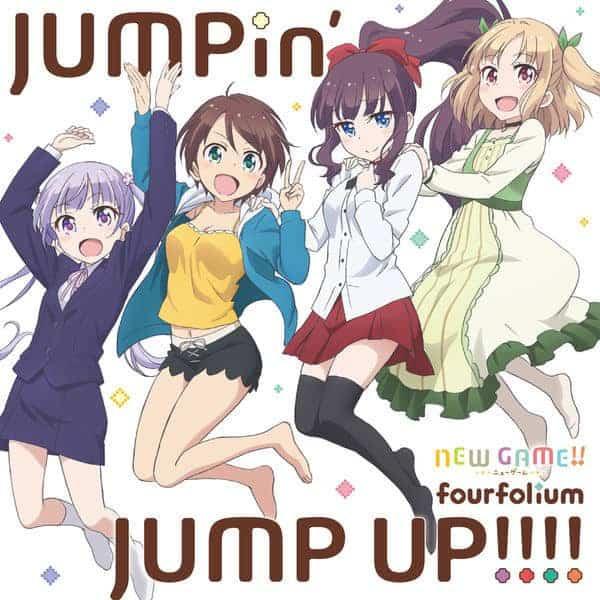 『fourfolium - JUMPin' JUMP UP!!!!』収録の『JUMPin' JUMP UP!!!!』ジャケット